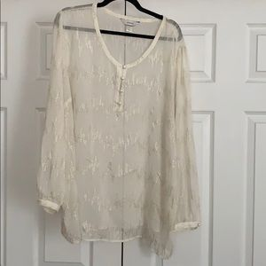 Gold and off white blouse